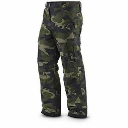 MENS INSULATED WATERPROOF SKI SNOW BOARD CARGO PANTS CAMOUFL