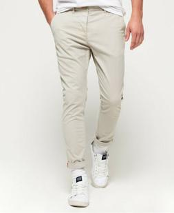 Mens Superdry International Chino Lite Pants Stone Wash