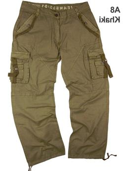 MENS MILITARY-STYLE CARGO PANTS SIZE: 30-44   #A8