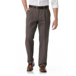 Mens LEE No Iron Pleated Dress Pants Size 38 X 32 Gray with