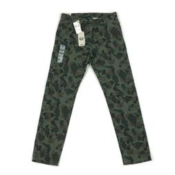 Dockers Mens Pants Tapered Fit Alpha Slim Camo Green Variety