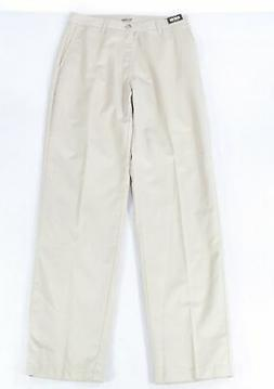 Lee Mens Pants Beige Size 32X34 Relaxed Fit Flat Front Khaki