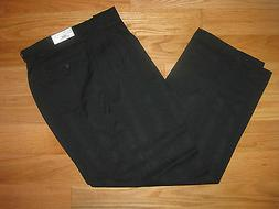 Mens Pants Black Dress Cuffed Pleated 32 34 36  X 32 Style #