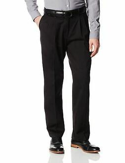 Lee Mens Pants Black Size 54x30 Big & Tall Relaxed Fit Pleat