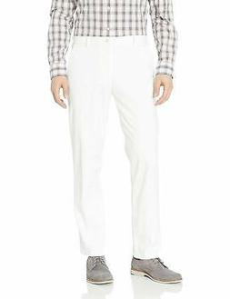 IZOD Mens Pants White Size 32X30 Straight Flat Front Chinos
