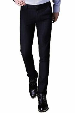 INFLATION Mens Plaid Dress Pants Wrinkle-Free Stretch Slim F