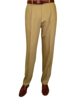 Mens MANTONI Pleated Dress Pants 100% Wool Super 140's Class