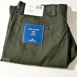 Dockers Mens Pleated Dress Pants 38 x 30 Green 100% Cotton C