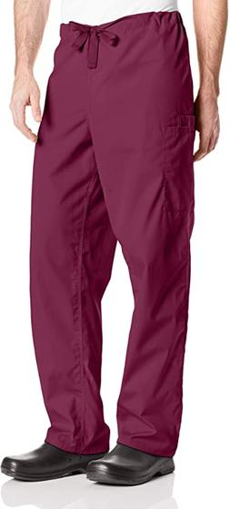 Mens Amazon Essentials Scrub Pants Size Medium Burgundy