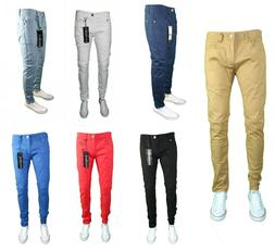 Mens Skinny Jeans Slim STRETCH FIT SLIM FIT Trouser Pants Fa