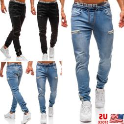 Mens Slim Fit Stretch Jeans Comfy Fashionable Skinny Denim P