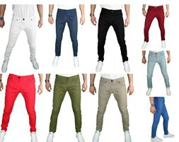 VERTICAL Mens skinny SLIM FIT STRETCH Chino Trousers Casual