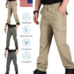 Mens Soldier Tactical Waterproof Pants Cargo Pants Combat Hi