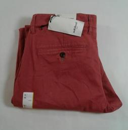 Goodfellow Mens Straight Fit Hennepin Chino Pants Red Select