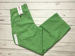 Mens IZOD Straight Green Chino Pants NWT Size 36 30