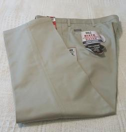 mens tan khaki double pleated pants slacks