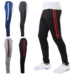 Mens Track Jogger Pants Slim Fit Sweatpants Running Sports B
