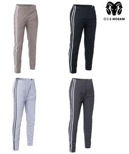 Mens Track Pants Striped Joggers Gym Sweatpants Slim Fit Cuf