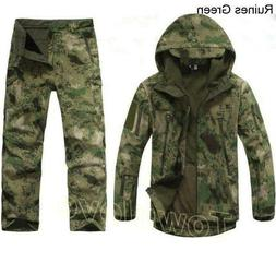 Mens Winter Hunting Clothes Outdoor Waterproof Thicken Jacke
