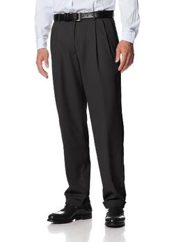 Haggar Men's Mynx Gabardine Hidden Expandable Waist Pleated