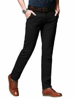 MATCH NEW Black Mens Size 32X31 Slim Tapered Fit Stretchy Ca