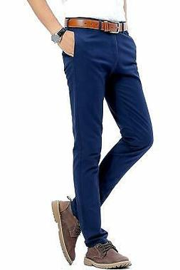 INFLATION NEW Blue Men's Size 33 Slim-Fit Flat Front Dress P