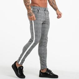 New Casual Plaid <font><b>Pants</b></font> <font><b>Men</b><