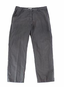 Lee NEW Gray Mens Size 38X32 Relaxed Fit Flat-Front Chinos P