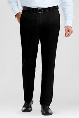 New Haggar H26 Mens Classic Fit No Iron Stretch Solid Black
