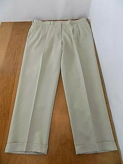 NEW Van Heusen Men's Dress Pants Sz W 42 X 32 L Beige Pleate