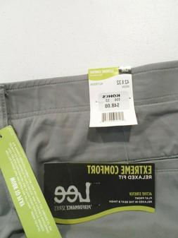 NEW Lee Men's Extreme Comfort Pants Size 42x32 Relaxed Fit G