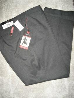 NEW Van Heusen Men's Gray Big & Tall Dress Pants; Flex; Flat