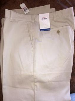NEW IZOD Men's Saltwater Straight Fit Stretch Flat-Front Chi
