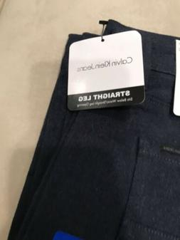 NEW!! Calvin Klein Men's  Straight Casual Pants, Blue Size 3