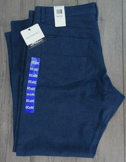 new men s straight casual pants blue