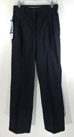 NEW Barco Mens 28 x 31 Pleated Black Uniform Work Dress Pant