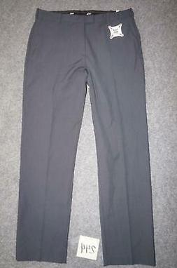 NEW IZOD MENS 34x32 PERFORMANCE STRETCH COMFORT FLEX DARK GR