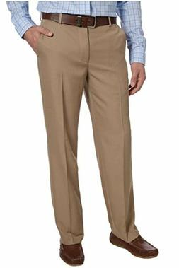 NEW MENS 38X32 KHAKI IZOD PERFORMANCE STRETCH DRESS PANTS CO