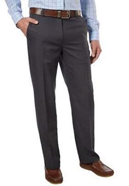 NEW MENS 42X34 DARK GREY IZOD STRAIGHT FIT DRESS PANTS NO IR