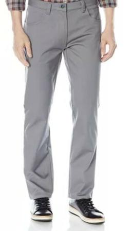 New Mens Van Heusen Flex Slim Fit Stretch Gray Pants Size 32