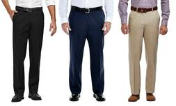 NEW Mens Haggar Pants Classic Flat Expandable Big & Tall siz