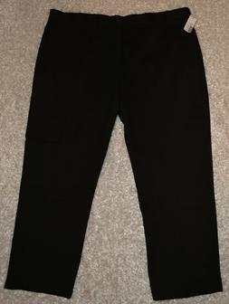 New Mens IZOD Performance Plus Khaki Pants 46 x 30 Black Fla
