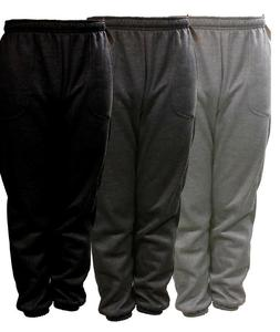 NEW MENS PLAIN FLEECE JOGGER DRAWSTRING SWEAT PANTS S M L XL