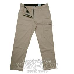 New Mens ZEROXPOSUR Stretch Travel Pants Zip Cargo Pocket UP