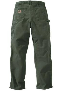 NEW Carhartt Mens Washed Duck Work Dungaree Pants B11 MOSS G