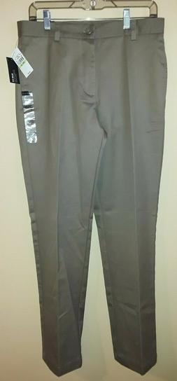 New NWT Mens Van Heusen 30x32 Beige Khaki Flex Dress Pants S
