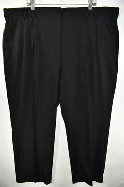 New Van Heusen Studio Mens Black Dress Pants Size 46x29 Plea