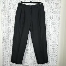 NWT Brown Haggar Classic Slack Pleated Front Pants
