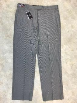 NWT Van Heusen Men's Gray Flex Straight Fit Flat Front Dress