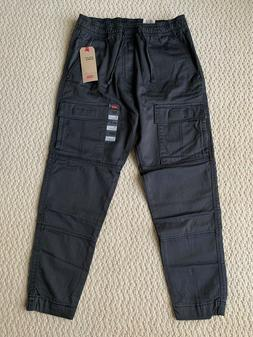 NWT Men's Levi's Charcoal Utility Cargo Pocket Tapered Jogge